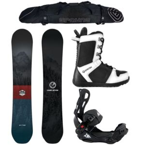 Special Men's Snowboard Package Camp Seven Redwood with LTX Rear Entry Bindings
