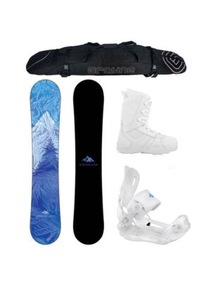 Special Women's  Snowboard Package System Juno and Lux Rear Entry Binding Package