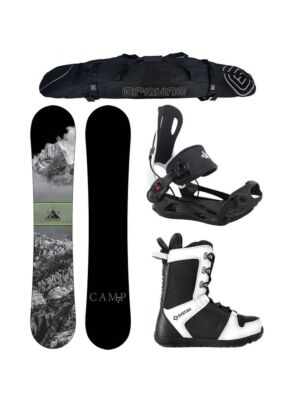 Special Snowboard Package Camp Seven Valdez and MTN Rear Entry Bindings Complete